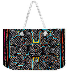 Weekender Tote Bag featuring the photograph Shipibo Art by Ulrich Schade