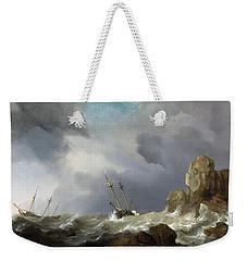 Ships In A Gale Weekender Tote Bag