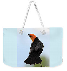 Weekender Tote Bag featuring the photograph Showing Off by Shane Bechler