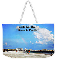 Weekender Tote Bag featuring the photograph Siesta Beach by Gary Wonning