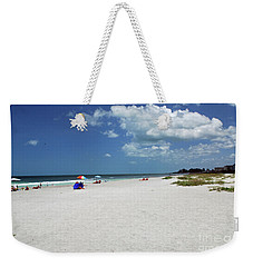 Weekender Tote Bag featuring the photograph Siesta Key Beach by Gary Wonning