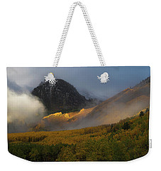 Weekender Tote Bag featuring the photograph Siever's Mountain by Steve Stuller