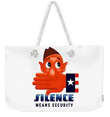 Silence Means Security Weekender Tote Bag