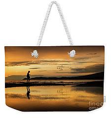 Silhouette In Sunset Weekender Tote Bag