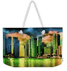 Singapore Skyline Weekender Tote Bag by Joseph Hollingsworth
