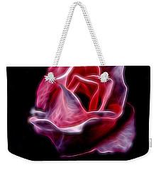 Single Pink Rose Weekender Tote Bag
