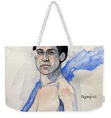 Weekender Tote Bag featuring the painting Sketch For Gabrielle by Ray Agius