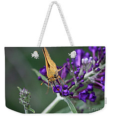 Weekender Tote Bag featuring the photograph Skipper by Douglas Stucky