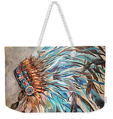 Sky Feather Weekender Tote Bag