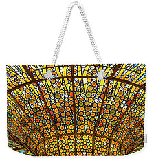 Skylight In Palace Of Catalan Music  Weekender Tote Bag