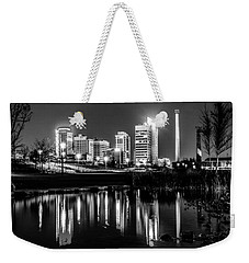 Skyline Of Birmingham Alabama From Railroad Park Weekender Tote Bag