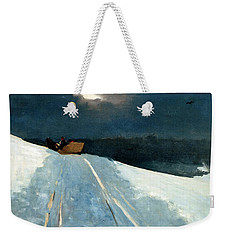 Sleigh Ride Weekender Tote Bag by Winslow Homer
