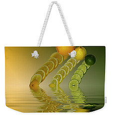 Weekender Tote Bag featuring the photograph Slices  Grapefruit Lemon Lime Citrus Fruit by David French