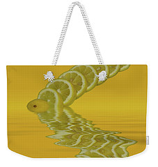 Weekender Tote Bag featuring the photograph Slices Lemon Citrus Fruit by David French