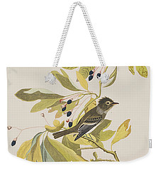 Small Green Crested Flycatcher Weekender Tote Bag by John James Audubon