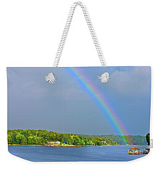 Smith Mountain Lake Rainbow Weekender Tote Bag