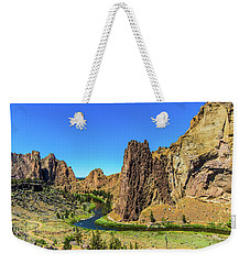 Weekender Tote Bag featuring the photograph Smith Rock by Jonny D
