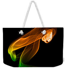 Weekender Tote Bag featuring the photograph smoke XIV by Joerg Lingnau