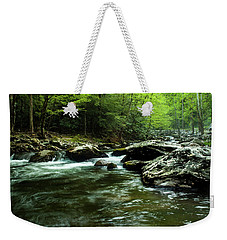 Weekender Tote Bag featuring the photograph Smoky Mountain River by Jay Stockhaus