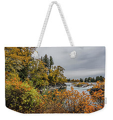 Snake River Greenbelt Walk In Autumn Weekender Tote Bag by Yeates Photography