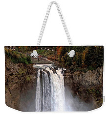Weekender Tote Bag featuring the photograph Snoqualmie Falls by Chris Anderson