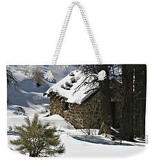 Snow Cabin Weekender Tote Bag