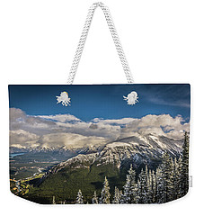Weekender Tote Bag featuring the photograph Snow On The Mountain by Bill Howard