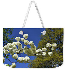 Weekender Tote Bag featuring the photograph Snowballs by Skip Willits