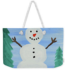 Snowman Weekender Tote Bag by Anthony LaRocca