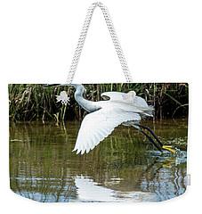 Snowy Egret Takeoff Weekender Tote Bag