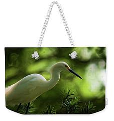 Snowy Egret V.2 Weekender Tote Bag