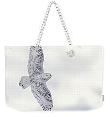 Snowy Flyby Weekender Tote Bag