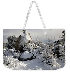 Snow Seal Rock Weekender Tote Bag