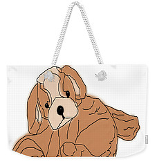 Weekender Tote Bag featuring the digital art Soft Puppy by Jayvon Thomas