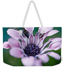 Weekender Tote Bag featuring the photograph Soft Purple by Michaela Preston