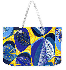 Weekender Tote Bag featuring the drawing Solar Rays by Kim Sy Ok