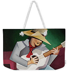 Weekender Tote Bag featuring the painting Solo Singer by Lance Headlee