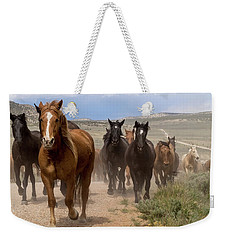 Sombrero Ranch Horse Drive, An Annual Event In Maybell, Colorado Weekender Tote Bag