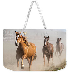 Sombrero Ranch Horse Drive At The Corrals Weekender Tote Bag