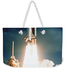 Space Shuttle Launch Weekender Tote Bag by NASA Science Source