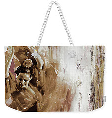 Weekender Tote Bag featuring the painting Spanish Woman Dance  by Gull G