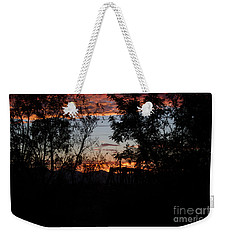 Weekender Tote Bag featuring the photograph Spectacular Sky by Anne Rodkin