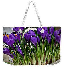 Spring Crocuses Weekender Tote Bag by AmaS Art