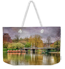 Weekender Tote Bag featuring the photograph Spring In The Boston Public Garden by Joann Vitali