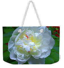 Weekender Tote Bag featuring the photograph Spring Peony by Roger Bester