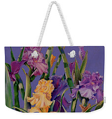 Weekender Tote Bag featuring the pastel Spring Recital by Ann Peck