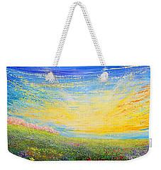 Weekender Tote Bag featuring the painting Spring by Teresa Wegrzyn
