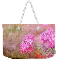 Weekender Tote Bag featuring the photograph Springtime by Betty LaRue