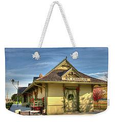 St. Charles Depot Weekender Tote Bag by Steve Stuller
