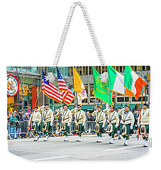 St. Patrick Day Parade In New York Weekender Tote Bag